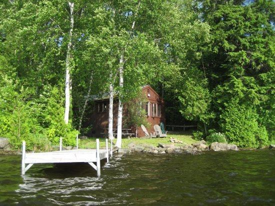 Moosehead Lake Cottage from water - #149 Cottage on water`s edge with view of Big Moose Mountain! - Greenville - rentals