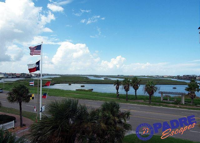 View from the unit patio - Remodeled 1 bedroom condo w/a Great View & close to the Beach! - Corpus Christi - rentals