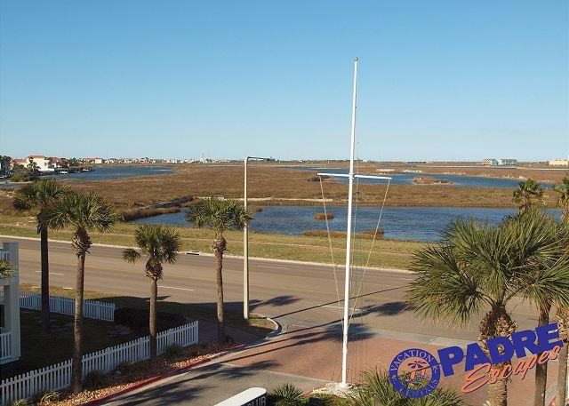 View from the patio - Coastin Ain't Easy is a remodeled condo just off the Beach! - Corpus Christi - rentals
