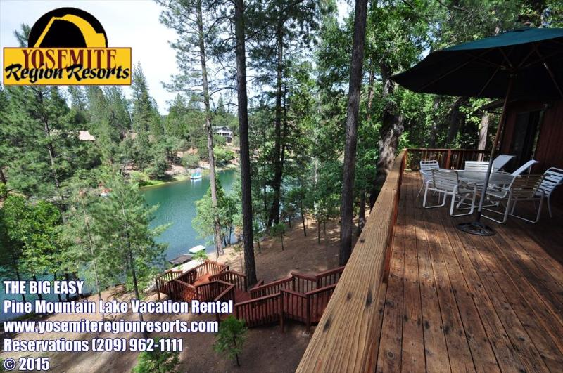 Unit 15 Lot 83, Lakefront Pine Mountain Lake Vacation Rental The Big Easy, Private Dock, 1-Canoe, 1-Paddleboat, 2-Kayaks, Near Yosemite - Lakefront, Dock,Canoe, Paddlebt, 2Yaks, NrYosemite - Groveland - rentals