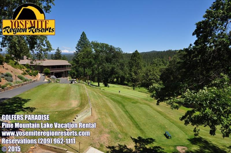 Golf course view from the back deck, Country Club Village Condo %3532 Pine Mountain Lake championship golf course Near Yosemite - Golf Course Condo, Golf View, Slp10, NrYosemite - Groveland - rentals