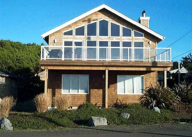Front view of Ocean Six from the beach. - OCEAN SIX~ MCA# 1491~Glorious ocean front views with large picture windows! - Manzanita - rentals