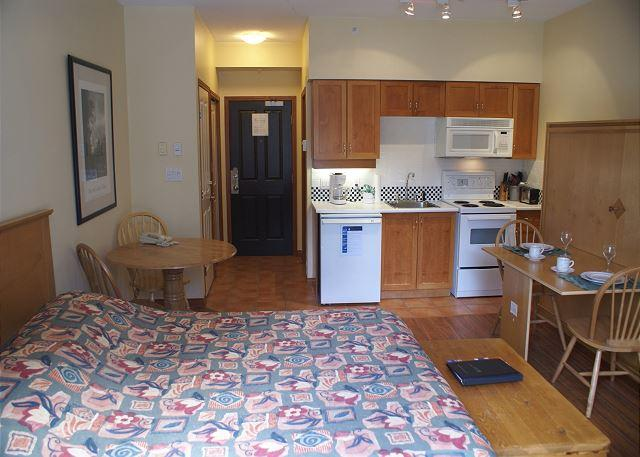 Panoramic view of the unit's layout. - Alpenglow 402 - Convenient central location with free WiFi - Whistler - rentals