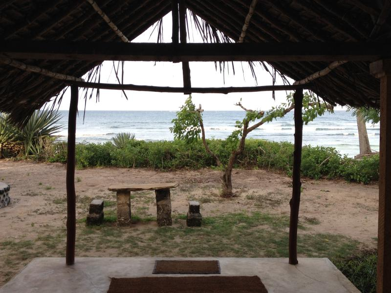front verandah looking yards from Indian Ocean - A beautifully rustic beach house on the beach - Kilifi - rentals