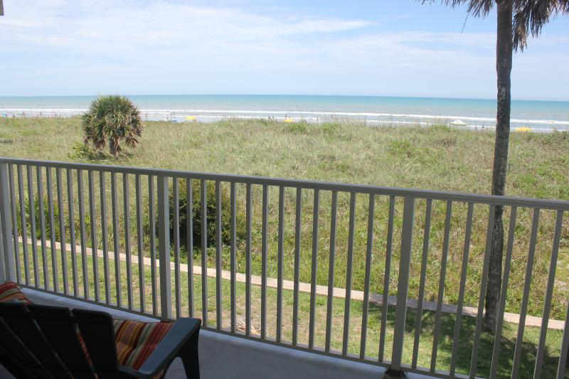 the balcony overlooking the dunes and ocean - Direct Beach Front Condo, Balcony, Great Views & B - Cocoa Beach - rentals