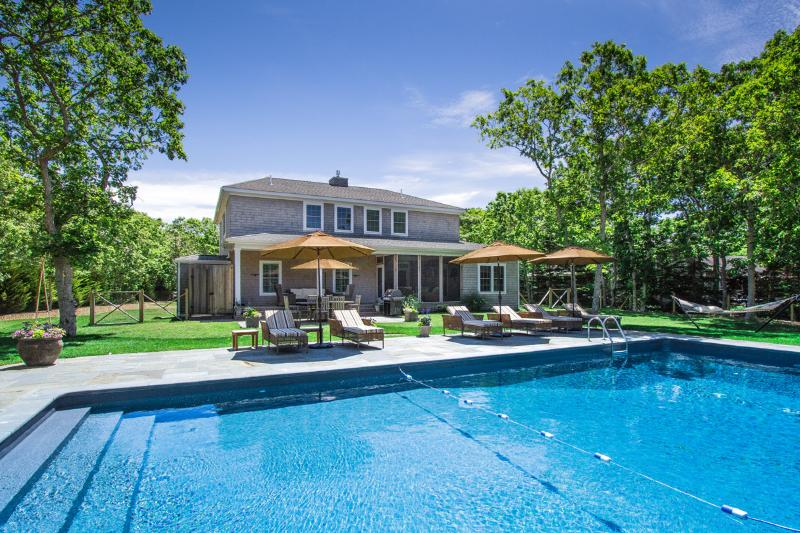 WALSB - New Contemporary Luxury Home,  Heated Pool 18 x 40, Luxury Amenities - Image 1 - Edgartown - rentals