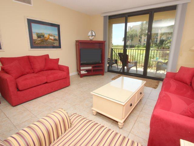 Living area - Island Club, 3104 - Hilton Head - rentals