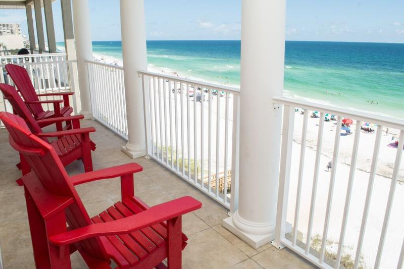 5th floor balcony: beach front. Amazing views!! - Luxury Beach House! Sleeps 20, Fall Sale-Book now! - Miramar Beach - rentals