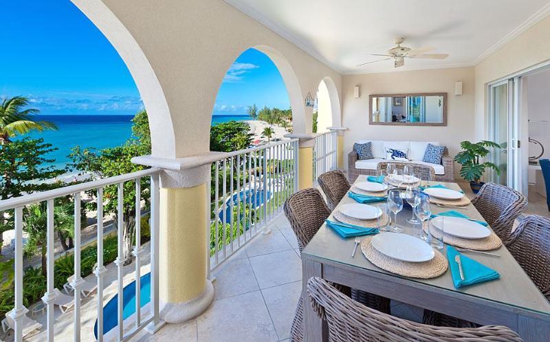 SAPPHIRE BEACH 307 DEC-2014 PATIO.jpg - Sapphire Beach 307 - Christ Church - rentals