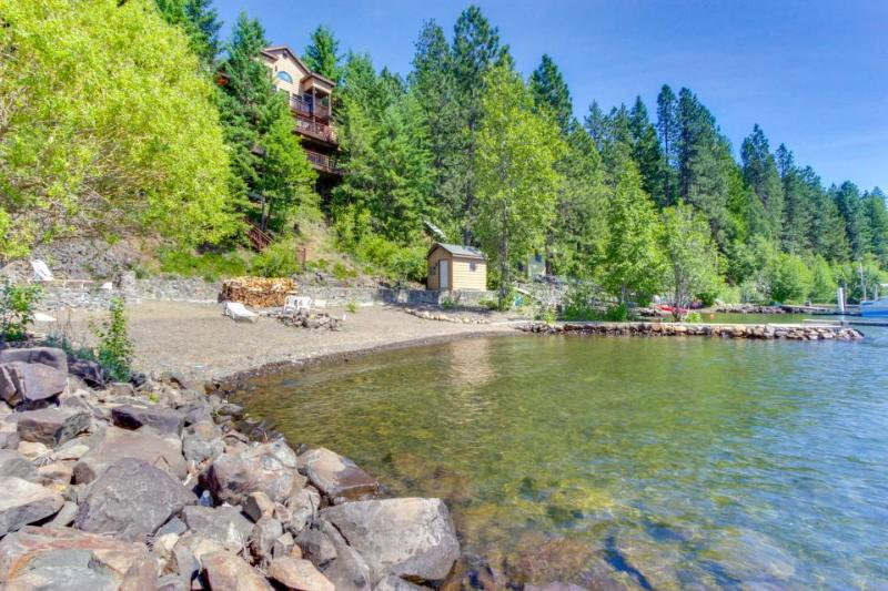 Dog-friendly, stunning bay front home with a private dock! - Image 1 - Harrison - rentals