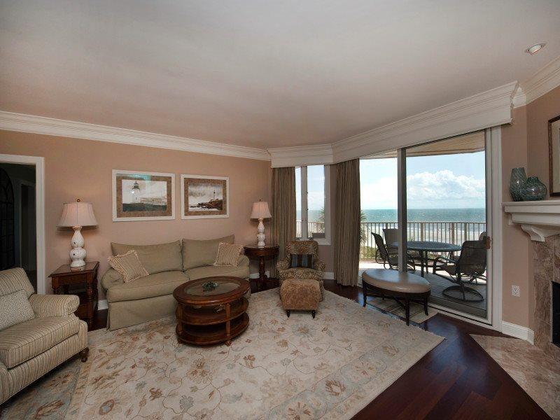 Living Room with Ocean Views at 302 Turtle Lane Club - 302 Turtle Lane Club - Sea Pines - rentals