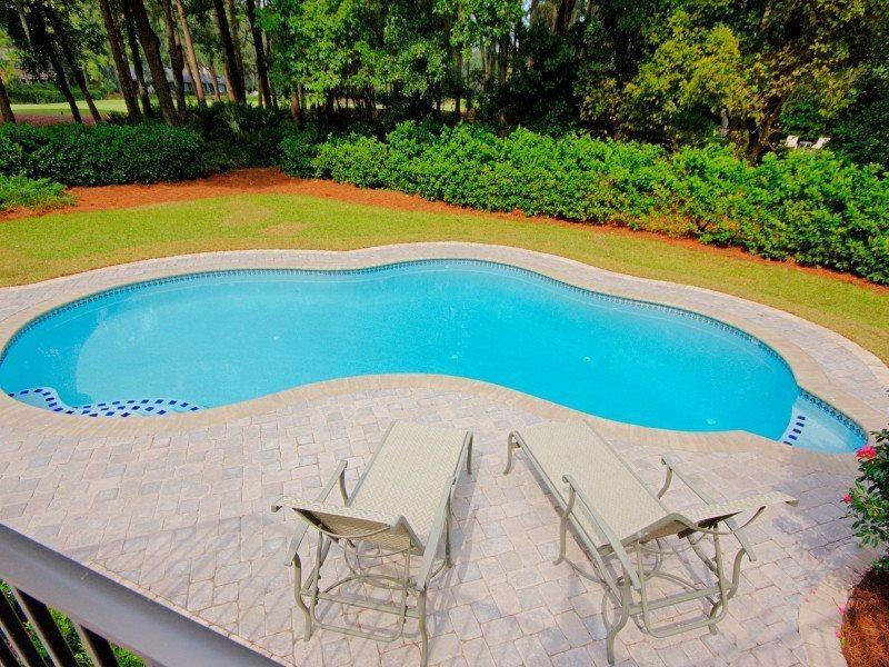 Pool and Deck Area at 5 Battery Road - 5 Battery Road - Hilton Head - rentals