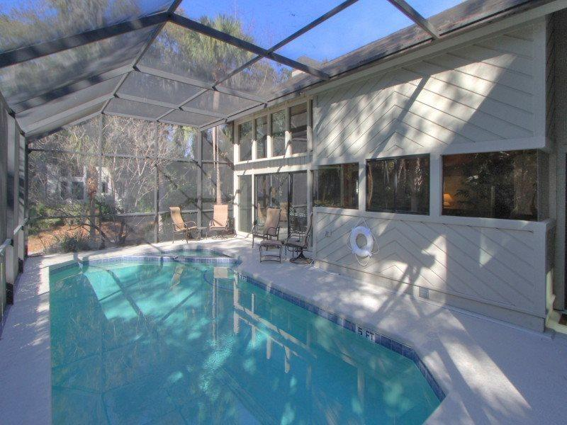 Screened-In Pool Area at 8 Oyster Catcher - 8 Oyster Catcher - Hilton Head - rentals