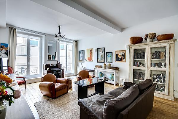 Living Room - Spacious 3 bedrooms in Montorgueuil - Paris - rentals