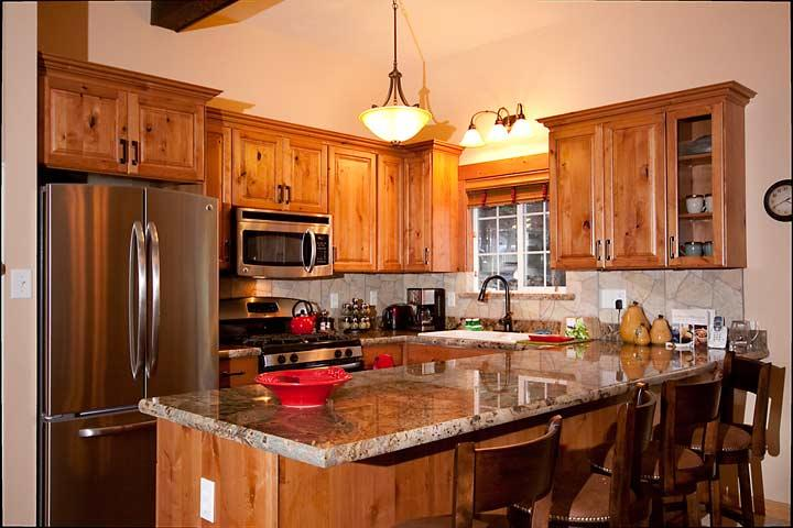 Remodeled Kitchen with Stainless Appliances and Granite - Aery Dog Friendly Luxury Cabin - Agate Bay - rentals