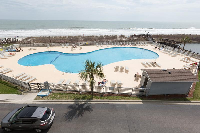 Terrace - Direct Oceanfront 1 Bedroom Condo with Pool, Tennis Court, Hot Tub - Myrtle Beach - rentals