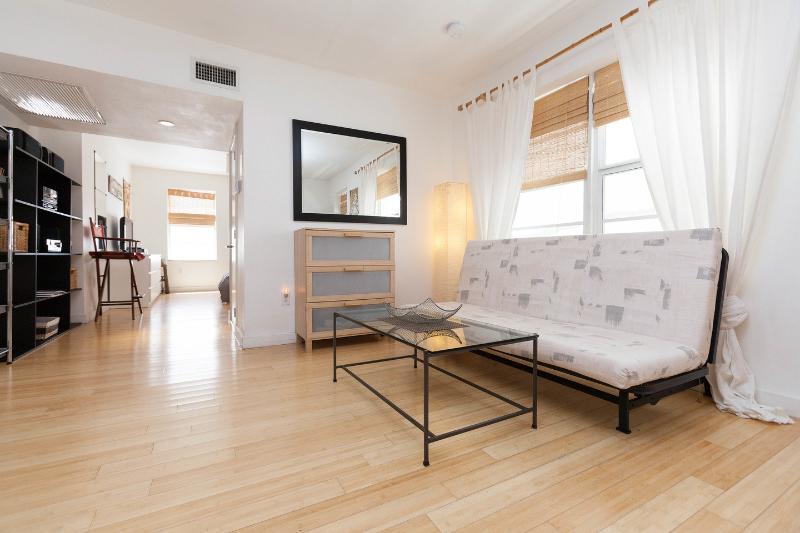 Living Room - Modern Condo, Steps to the Beach, Center of SOBE - Miami Beach - rentals