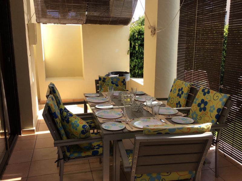 Our outside patio area shaded - villa in Roda Golf and beach Resort Murcia Spain - Murcia - rentals