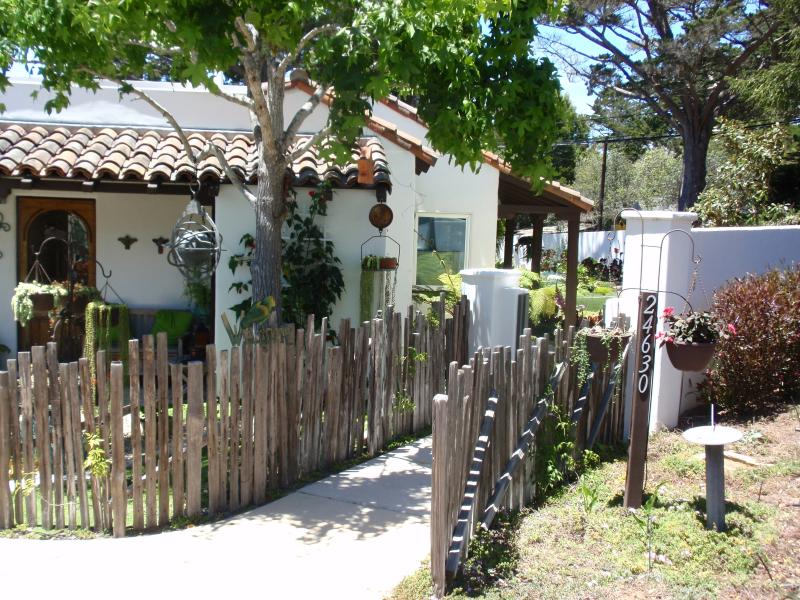 Entrance to the main  house; studio is nearby. - Detached Studio Apartment in Carmel - Pet Friendly - Carmel - rentals