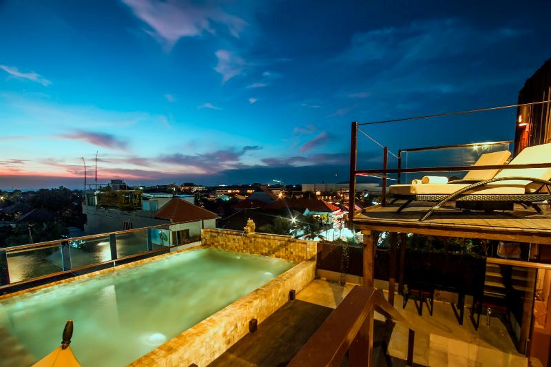 Swimming Pool on The Roof Top - SkY Villa , Luxury 2 BR Villa Central Seminyak - Bali - rentals
