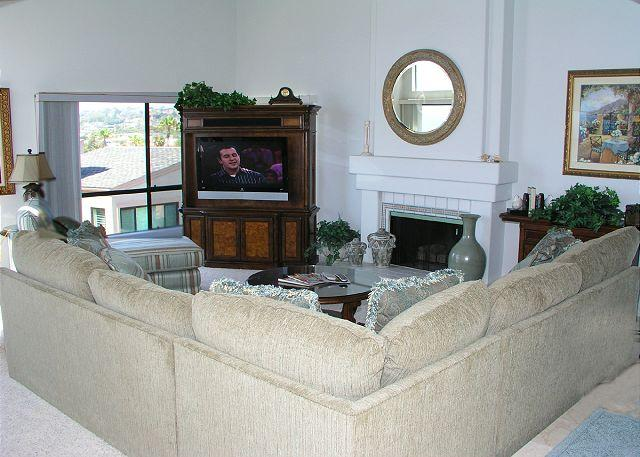 Living Room - Ocean view 2 bedroom townhouse in Seascape Sur complex - Solana Beach - rentals