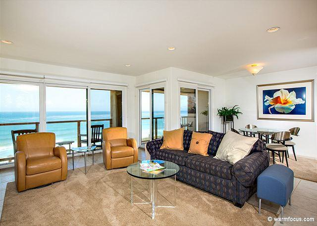 SANGRIA SUNSET - Oceanfront,  2 BR South Corner Condo Mid Level  SUR63 - Image 1 - Solana Beach - rentals