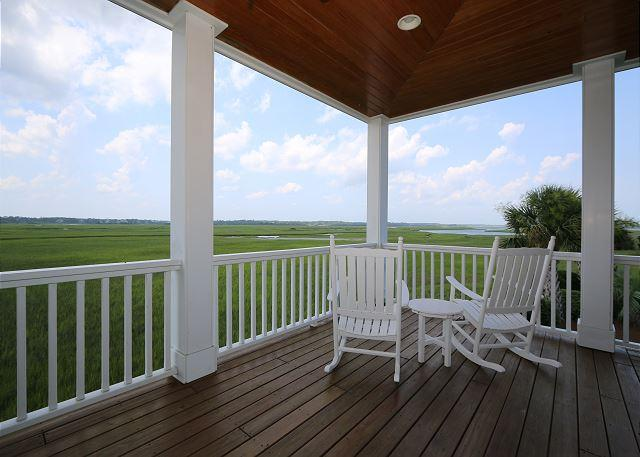 Marsh Madness - Enjoy panoramic views from the attractively furnished decks - Image 1 - Wrightsville Beach - rentals