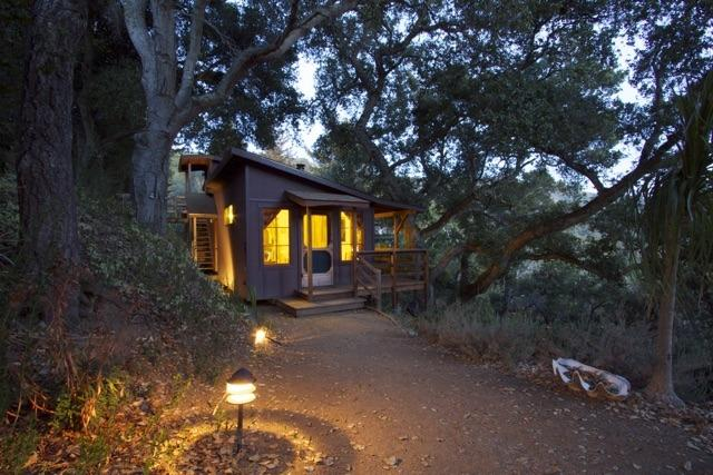 Cabin at dusk - Big Sur Craftsman Cabin w/Sauna - Big Sur - rentals