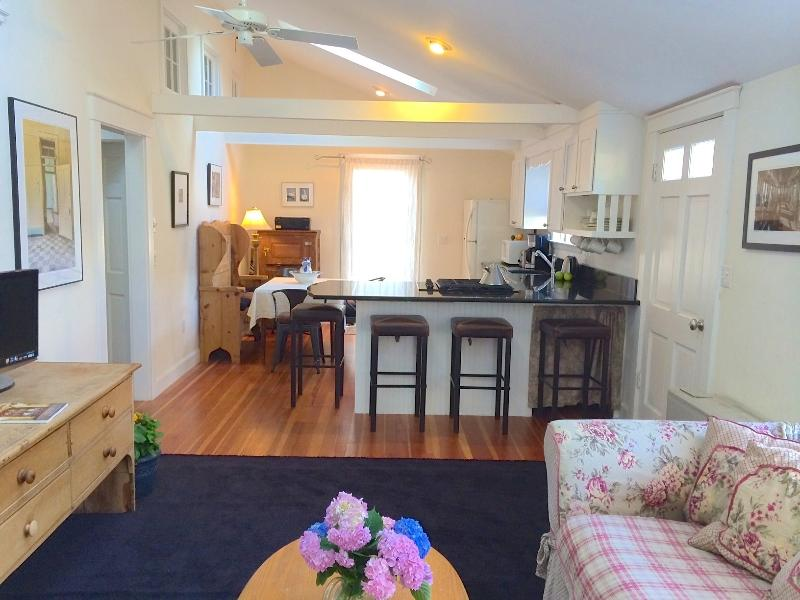 Living area to kitchen - Sunny Contemporary Cottage - Walk to town! - Edgartown - rentals