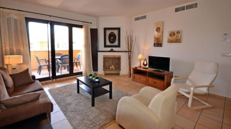 Living Room - Hacienda del Alamo Spanish Village Apartment - Cuevas de Reyllo - rentals