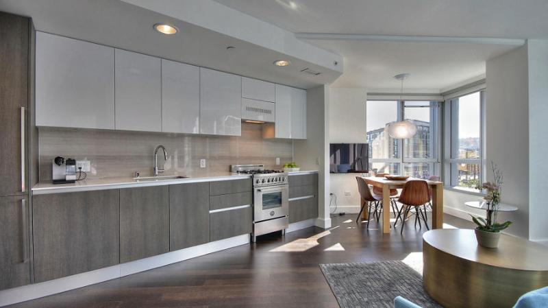 Fully equipped Italian-designed kitchen. - Luxury Hayes Valley One-Bedroom Condo with Views! - San Francisco - rentals