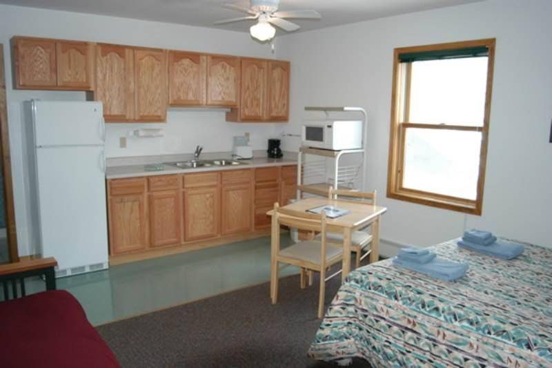 Hotel Style Room with Kitchenette, Futon and Full Bath at Three Rivers Resort in Almont (Lodge Room A) - Image 1 - Almont - rentals