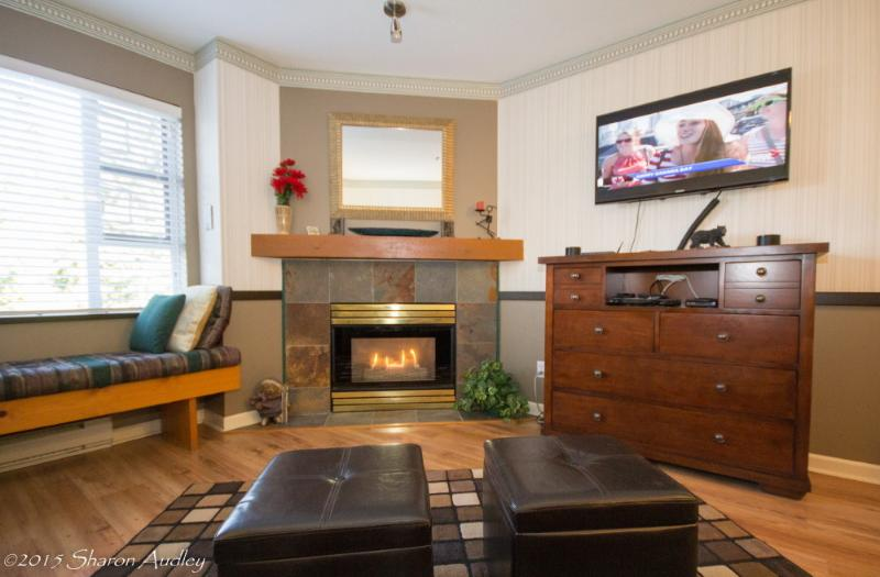 Beautiful gas fireplace in the comfortable livingroom - Executive Marketplace Self Catering Village #219 - Whistler - rentals