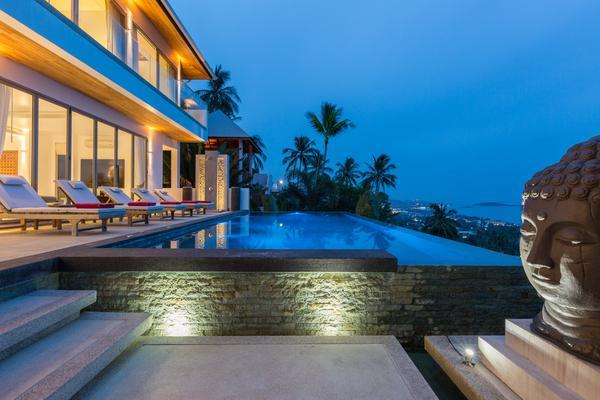 Dusk - Jaliza Villa, Luxury 6 Bedroom Chaweng Villa - Surat Thani - rentals