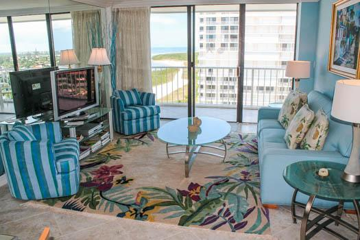 Living Room - SST1-1610 - South Seas Tower - Marco Island - rentals