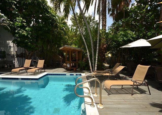 On-site pool, perfect for relaxing and enjoying the sunshine - Torrents of Spring #1- Tropical Getaway By Southernmost Point! Pool & Parking - Key West - rentals