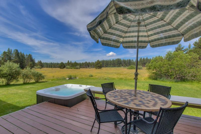 Outdoor meals in the summer and hot tubbing on the meadow - this is why you love Tahoe, isn't it? - Gorgeous meadow views with private hot tub! - Lester Meadows - South Lake Tahoe - rentals