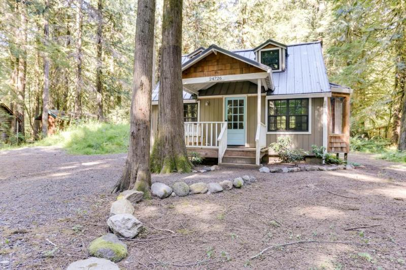 Beautiful chalet with hot tub, fire pit, & mountain views! - Image 1 - Rhododendron - rentals