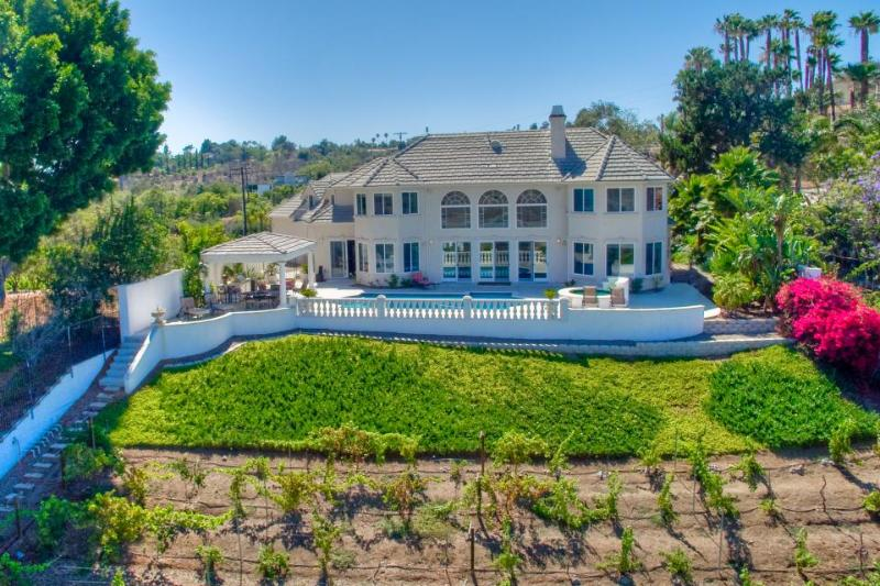 Stunning luxury estate w/ private pool & hot tub - spectacular valley views - Image 1 - Escondido - rentals