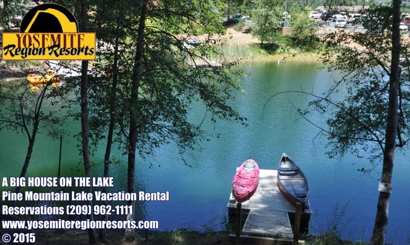 Unit 15 Lot 121 Pine Mountain Lake Luxury Lakefront Vacation Rental, A Big House On The Lake - LuxeLakefront WIFI PrivateDock GameRm 25m>Yosemite - Groveland - rentals