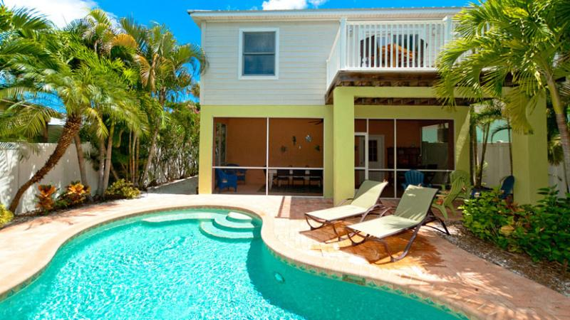 Large Heated Pool - LimeMariaVille: 3BR Family-Friendly Pool Home - Holmes Beach - rentals