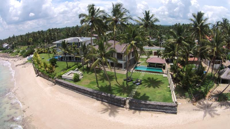Aerial photo of the Villa, Private Pool, Garden and Exclusive Beach Access - Kabalana House by Ceilão Villas - Galle - rentals