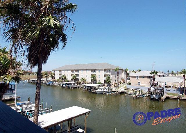 Balcony View - Nautical Escape! Geourgeous recently updated Waterfront Condo with boat slip! - Corpus Christi - rentals