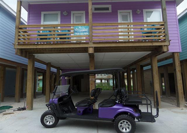 "Welcome to The Purple Pelican! - 4BR/3.5BA, ""New"" Purple Pelican, close to beach, free 6 seat golf cart, Pets - Port Aransas - rentals"