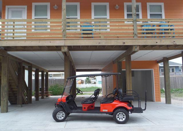 "Brand New 6 Seat Golf Cart - 4BR/3.5BA NEW ""Capt. Twigs"" Pet Friendly, Golf Cart Included, Close to Beach - Port Aransas - rentals"