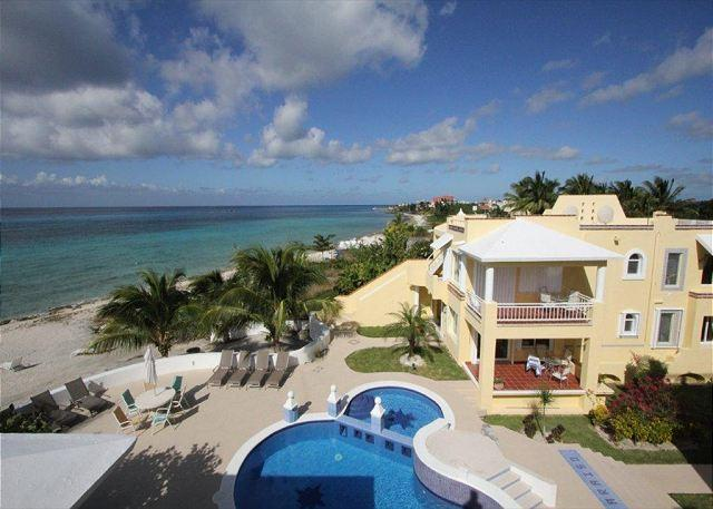 Paradise Condos 2A Cozumel Pool Area - Oceanfront with pool 3 bedroom condo in Paradise Condos (PC2A) - Cozumel - rentals