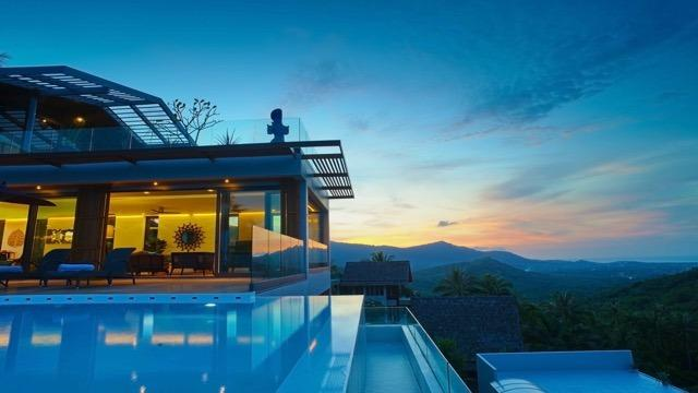 Luxury 6BR Seaview Villa on Bo Phut Hill - Image 1 - Choeng Mon - rentals