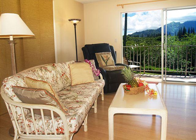 Bali Hai sunsets and waterfall views from this top floor corner - $119/night - Image 1 - Princeville - rentals