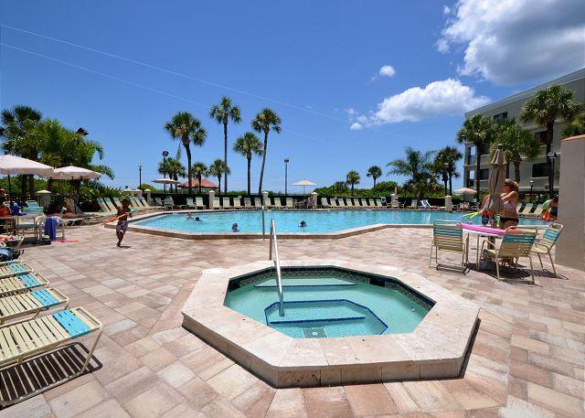 Lands End Pool & Spa Area - Lands End 10-405 - Gulf Front Top Floor Corner Condo in Paradise! Free WiFi! - Treasure Island - rentals