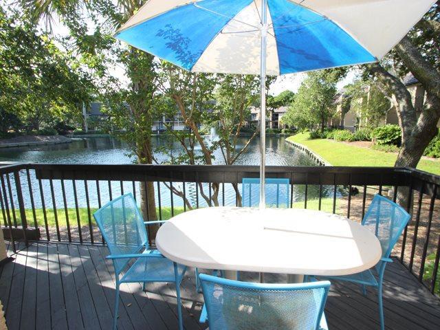 Balcony overlooking lagoon - Island Club, 146 - Hilton Head - rentals